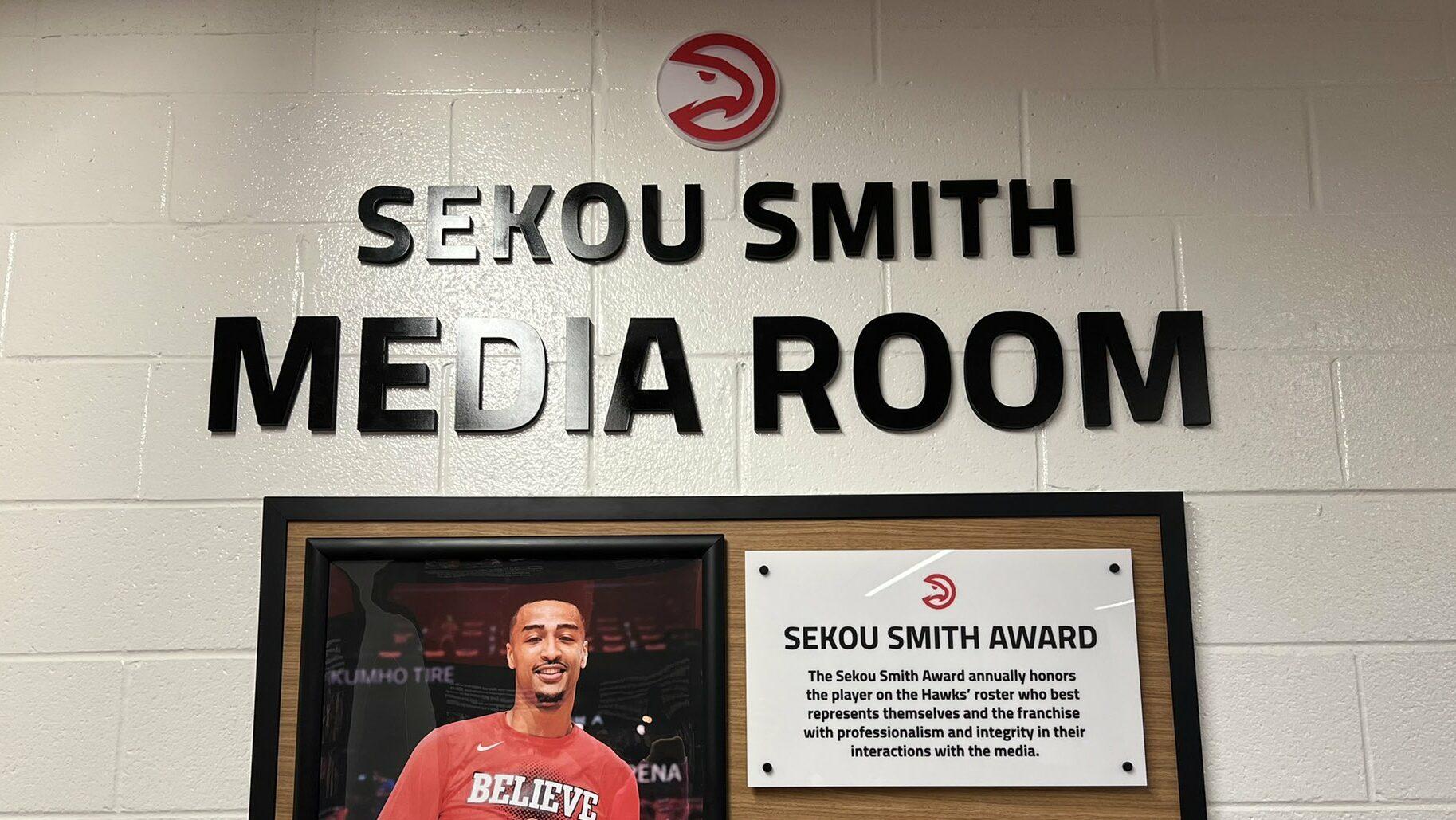 Hawks debut Sekou Smith Media Room at home opener