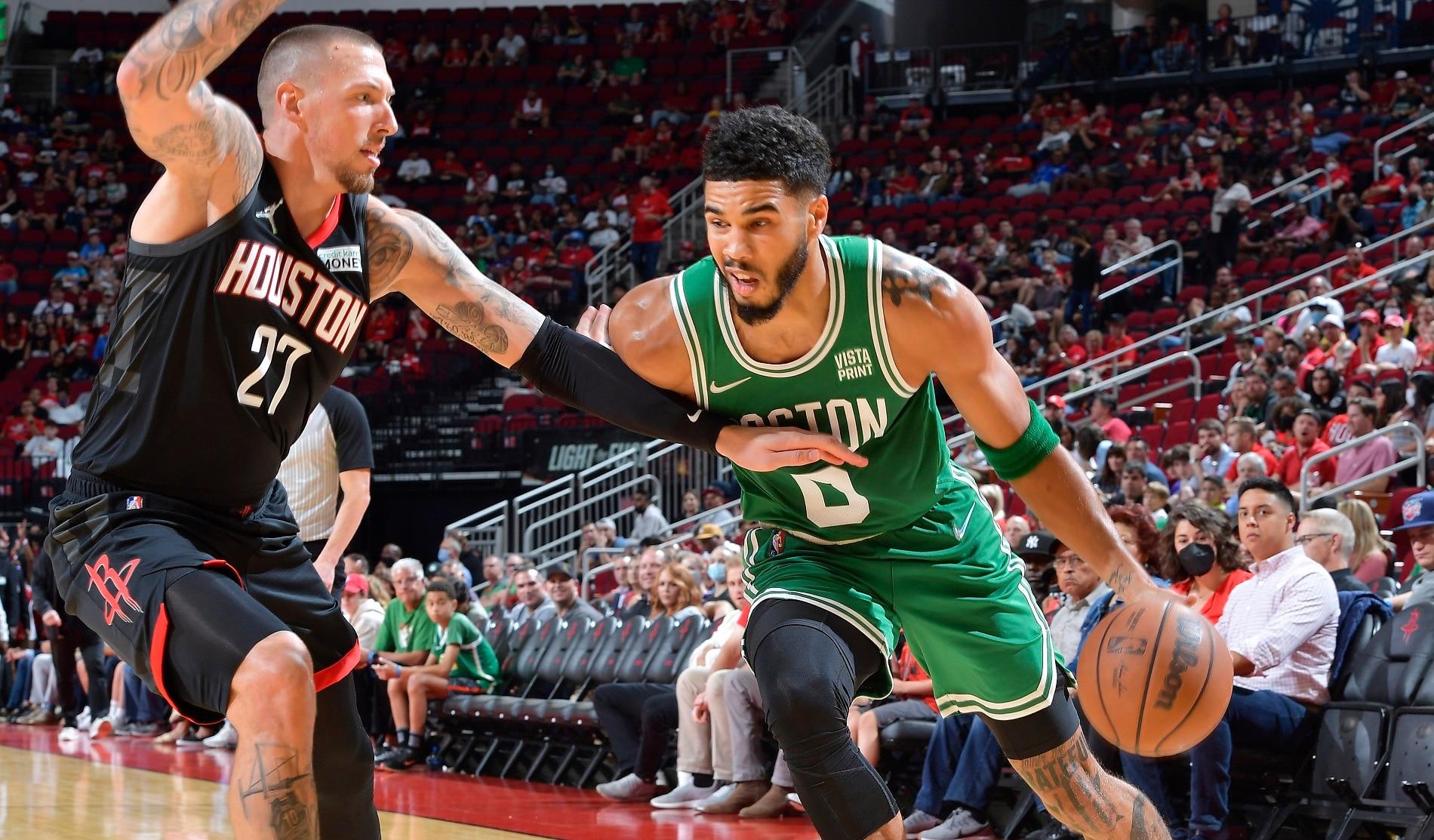 Celtics overcome slow start for 1st victory of season