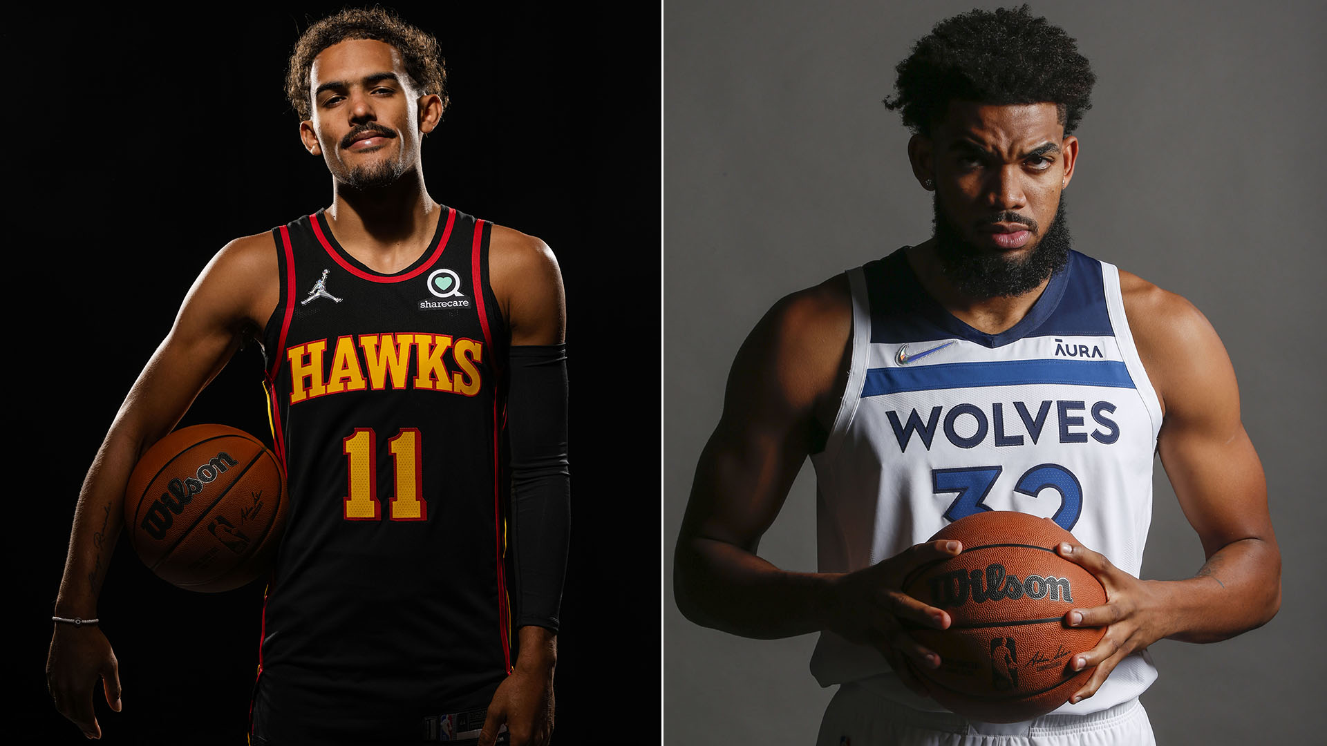 A look at Trae Young, Karl-Anthony Towns before 2021-22